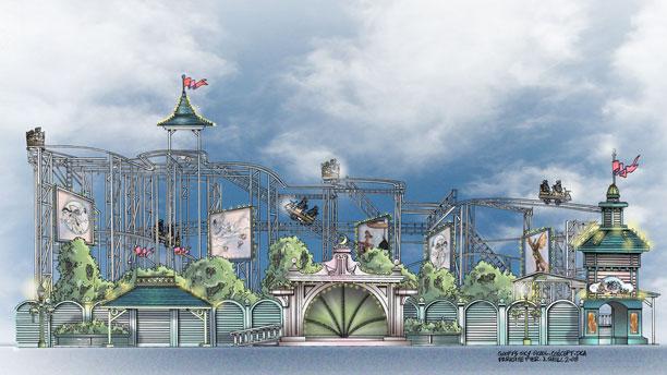 [Disney California Adventure] Placemaking: Pixar Pier, Buena Vista Street, Hollywood Land, Condor Flats 20-GoofyFlyingSchool